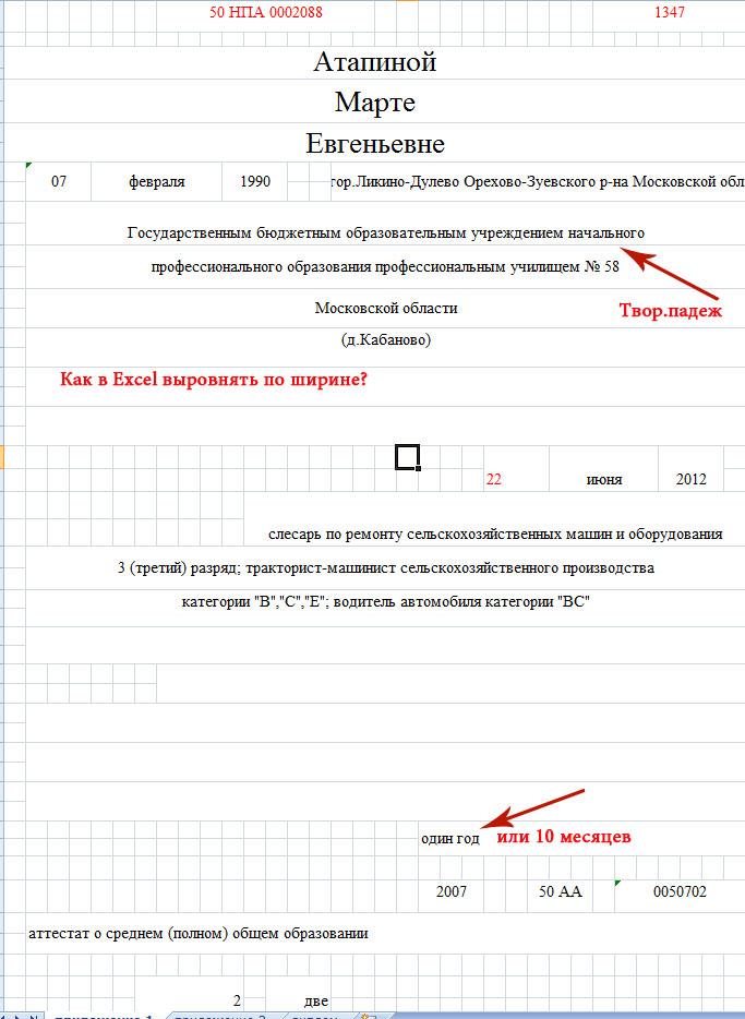 Инструкция по заполнению дипломов нпо фгос 3 обр 2018г